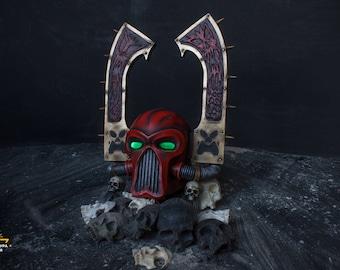 Kharn the Betrayer, helmet, cosplay props