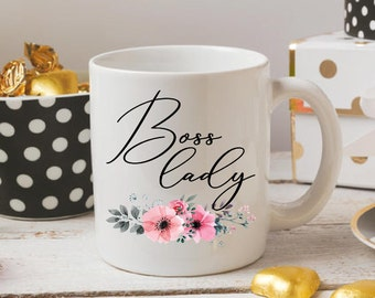 Boss Lady Mug | Boss Lady Coffee Mug | Floral Coffee Mug | Boss Day Gift | Boss Coffee Mug | Gift for Boss | Boss Lady Cup | Gift for Her