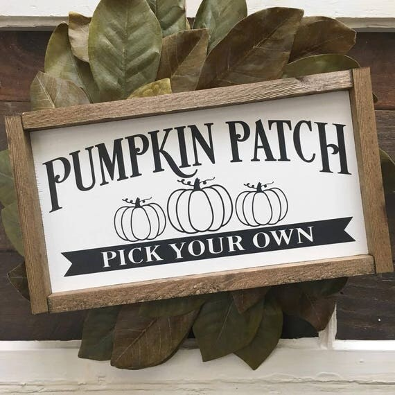 Pumpkin Patch  Wood Sign  Wall Hanging  Home Decor  Farmhouse Decor  Holiday  Wall Art  Fixer Upper Style  Painted Sign