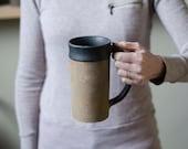 Handmade Ceramic Mug, Beer Gift, St Patricks Day Gift, Pottery Stein, Pottery Mug, Irish Mug, Husband Gift, Ceramic Beer Stein, Coffee Gift