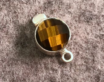 Tiger Eye and Sterling Silver Box Clasp by Jess Imports