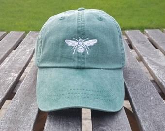 Monogrammed hat, Logo Hats, Bumble Bee hat, Bee hat, Leather Strap, Monogrammed logo hat, Queen Bee