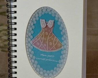 """Book """"My precious little book"""" Pergamano lace paper"""