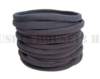 Nylon Headband Dark Gray Headband Bulk Headband One Size Fits Most Stretchy Skinny Soft DIY Baby Newborn Infant Headband Wholesale