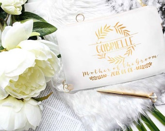 Personalized Mother Of The Groom Gift From Daughter In Law - Custom Mother In Law Of The Bride Cosmetic Bag - Unique Gift Items From Bride