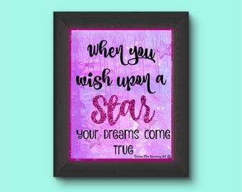 Printable Poster 8 x 10 WISH UPON a STAR