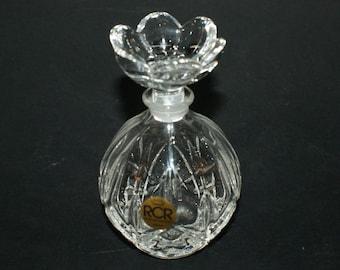 "Italy Vintage Cap Fragrance Bottle of Cristal RCR Parfum Original 50 Years Bouteilles ""Italian Crystal Rcr Calp Colle Val d'Elsa"