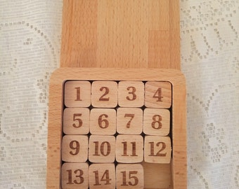 numbers game, Game  Logic, Vintage Puzzle Game,Game for children. Wooden game, Educational game, Game USSR , Retro game, Vintage Game 15,