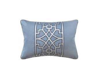 "Fretwork Pillow, 14"" x 20"""