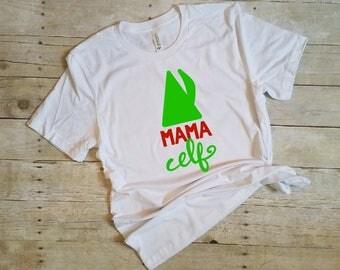 Mom Christmas Shirt, Mama Elf Shirt, Funny Christmas Shirt