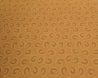 Heritage Hollow-Light Brown Swirls Cotton Fabric (6319) designed by Kim Diehl for Henry Glass
