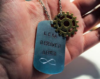 Lexa Deserved Better - The 100 Commander/Heda Lexa Dog Tag Necklace