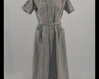 1950s Cotton Shirt Dress Fashioned by Kenrose