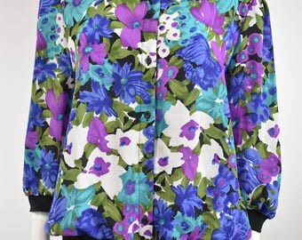 "Vintage Purple Floral ""Dolina"" Blouse"