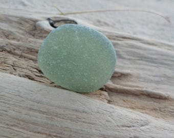 """Genuine Perfectly smoothed flawless Light lime green Round Sea Glass- Size 1.06""""-Rare Sea Glass-Pendant size Sea Glass#J217#"""