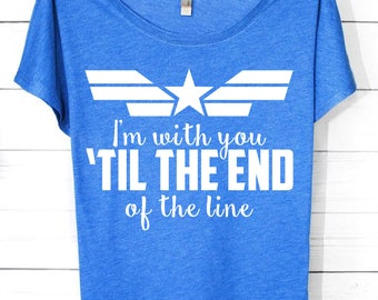 I'm With You Til The End of The Line | Marvel Shirts | Captain America, Captain America Shirts, Captain America Tank, Captain America Onesie