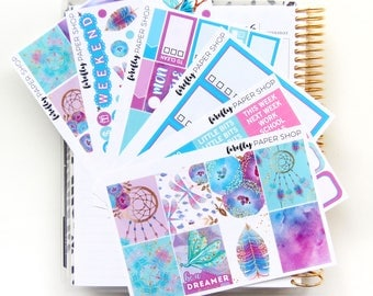 Dreamcatcher Weekly Kit (stickers for Erin Condren Life Planner - Vertical)