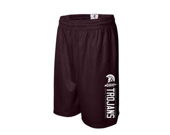 Unisex Mesh Shorts  - Garden City - High School - Football - Trojans - GCHS - Long Island Champions - Rutgers Cup