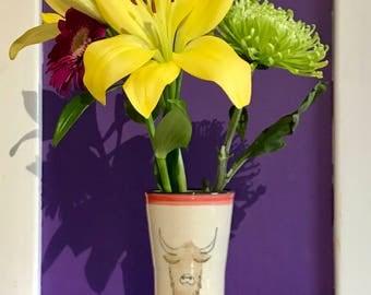 Highland Cow Vase