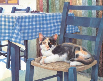Cats in the Sun - Lesley Anne Ivory original art print