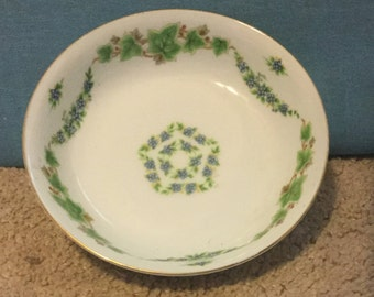 Richie China Bowl, Floral Pattern Post WWII, Made in Occupied Japan