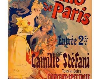 Casino Paris Poster Art - Casino de Paris Art - Vintage Print Art - Home Decor - French Advertising