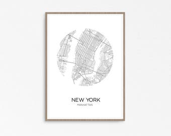 New York Map, Manhattan Map Poster, New York Poster, New York City, Manhattan, NYC Map, NY Map, United States, Manhattan Print, NYC prints