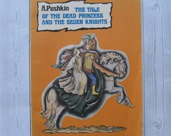 Children's Pushkin book verses fairy tail poem children the tale of dead princess and the seven knights tale verses kids classic in English