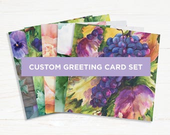 Choose any 5 Cards! - Custom Greeting Card Set