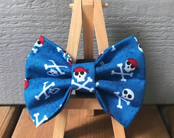 Pirate Skull and Crossbones Dog Bow Tie