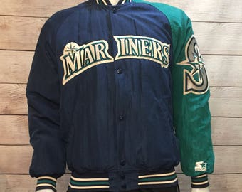 Rare Vintage Seattle Mariners Diamond Collection Starter Jacket