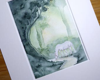Natural habitat || Original watercolor painting