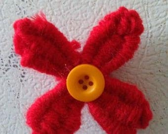 Red Flower Magnet