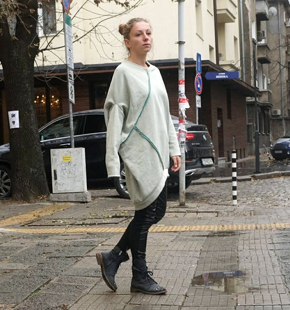 Lagenlook Fall Winter Dress Tunic, Oversized Warm Beige Tunic, Avant Garde Dress, Cocoon Dress, Extravagant Altered Dress Tunic