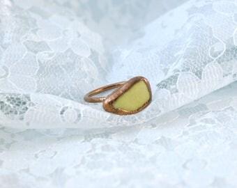 Serpentine   Electroformed Copper Ring