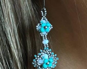 French Fleur Flower Earrings