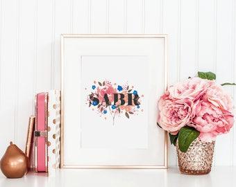 "Floral ""SABR"" Islamic Print"