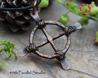 Rustic Celtic Cross Necklace, Mens Necklace, Celtic Jewelry, Christian Jewelry, Copper Necklace, Mens Copper Necklace, Rustic Necklace