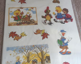 Eureka All Season Suzy Bulletin Board Set Fall Spring Winter Summer Vintage Classroom Poster