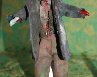 1:12 scale dollhouse zombie grand-dad