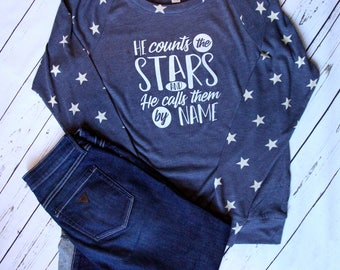 He Counts The Stars Long Sleeve