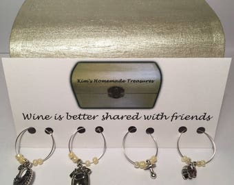 Baby Shower Wine Glass Charms