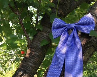 Women's Bowties Long tail bow tie, Bow tie woman, Women tie, Bow for her Woman tie Blue bow tie Wedding Ornament Party favors Preppy bow tie