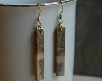 Poplar Wood Bar Earrings