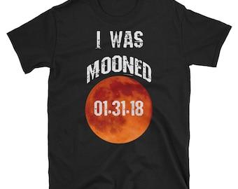 Lunar Eclipse 2018, Eclipse T-Shirt, total lunar eclipse, eclipse shirt, eclipse gift, Mens, lunar eclipse, astronomy shirt, I was mooned,