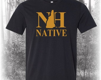 Black New Hampshire Native Shirt, Native New Hampshire Shirt, New Hampshire Shirt, NH Shirt, New Hampshire State Shirt