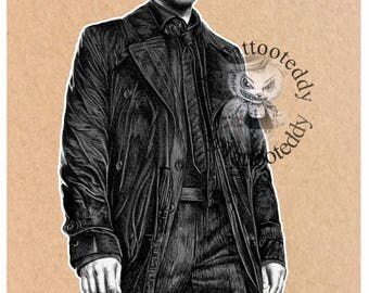 """Castiel - Supernatural """"Misha Collins""""   - Fine Art Print - A4/A3"""