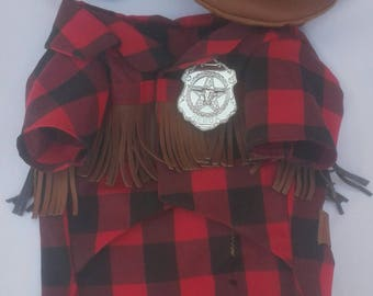 Sheriff dog costume, sheriff costume for dogs, outlaw dog costume, gunman dog costume, gunman costume for dogs