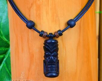 Surfer chain Tiki Tiki necklace New Zealand leather Necklace Surferhalskette Hana Lima ® HLS-0607-030