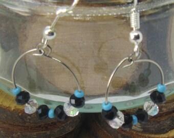 little bead hoops earrings